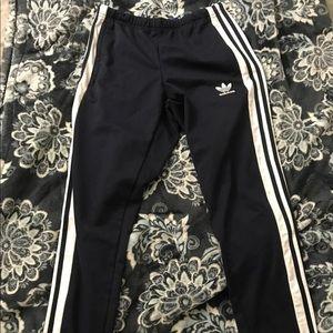 navy adidas snap button tear away pants men's s